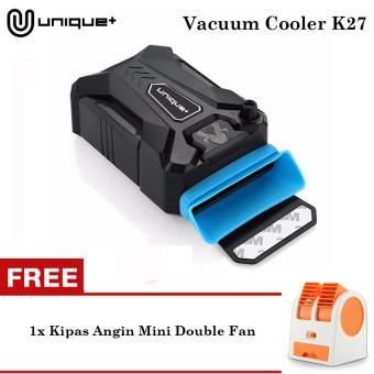 Harga Penawaran Unique Coolpad Cooling Pad Cooler Vacuum Hisap Pendingin Kipas Laptop Gaming Universal K27 Hitam FREE KIPAS ANGIN MINI MF-BP RANDOM COLOR ...