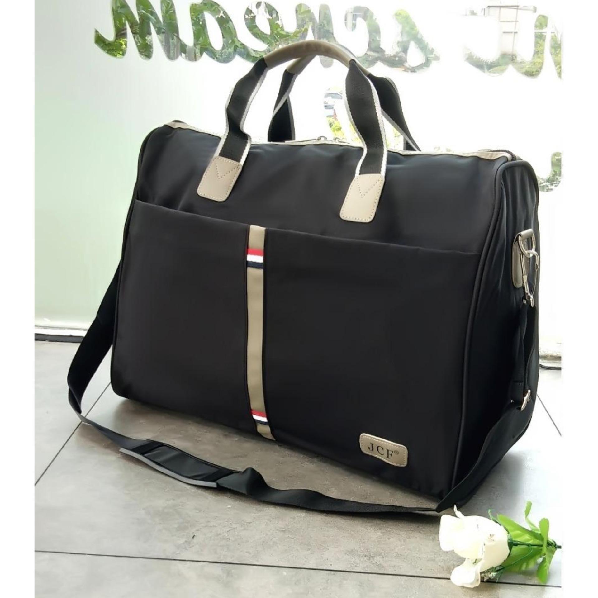 JCF Tas Travel Bag Import Kanvas Tebal Bagus Korean Style Fashion Wanita  Pria Tas Pakaian Multi The cheapest price Tas Selempang dan Jinjing ... 103ddee740