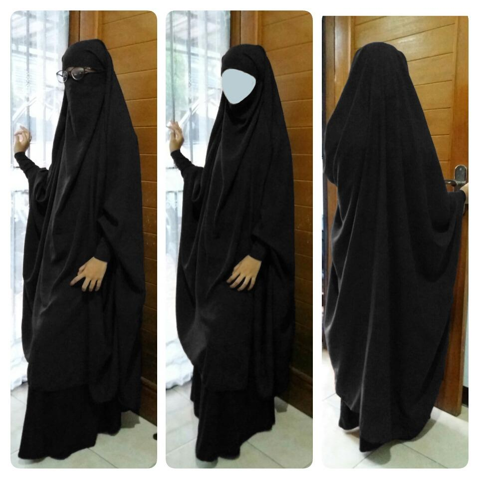 Hijab panjang syari Model french Hijab Jilbab Syari prancis Kerudung Khimar jumbo 102 !!!