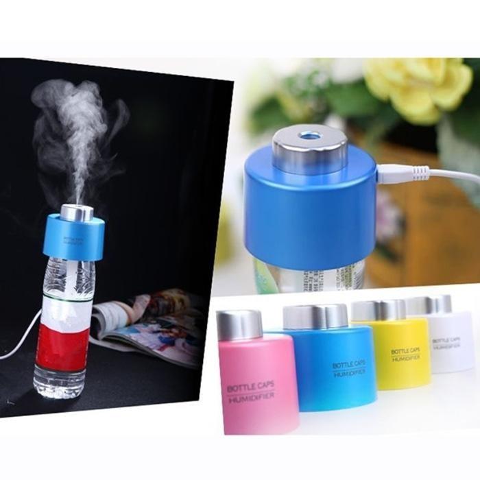 Bottle Cap USB Aromatherapy Humidifier - Blue