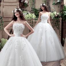 BH gaun resepsi gaun pengantin pengantin wanita Gaun pengantin 2018 model baru gaun panjang sampai lantai