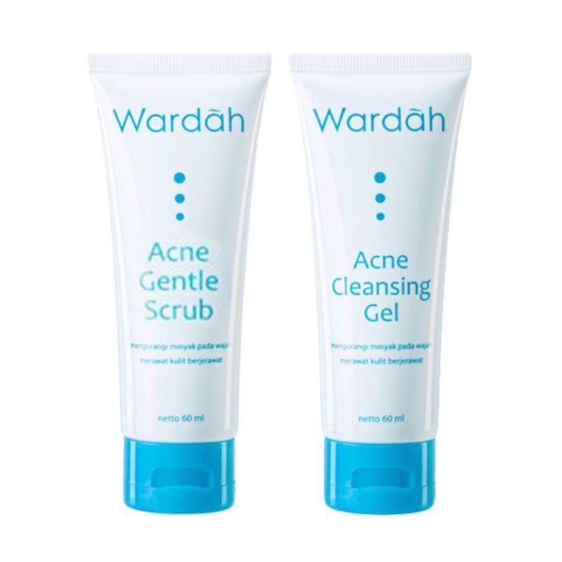 Wardah Acne Cleansing Series Pack (2Pcs) | Paket Pembersih Anti Jerawat