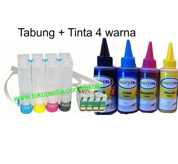 paket infus ciss tabung cartridge dan tinta 73N epson T13 T11 TX111 Terlaris di Lazada
