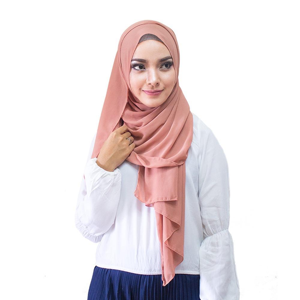 Hijabku Murah Pasmina Ceruti - [Warna Milo]