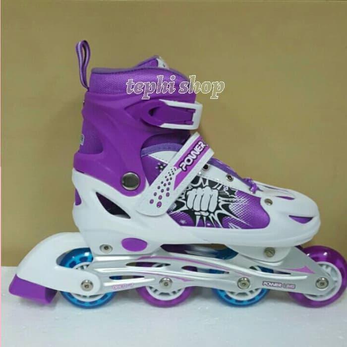 Sepatu Roda Anak Murah Inline Skate Power Line 6032J - UNGU da80369eed