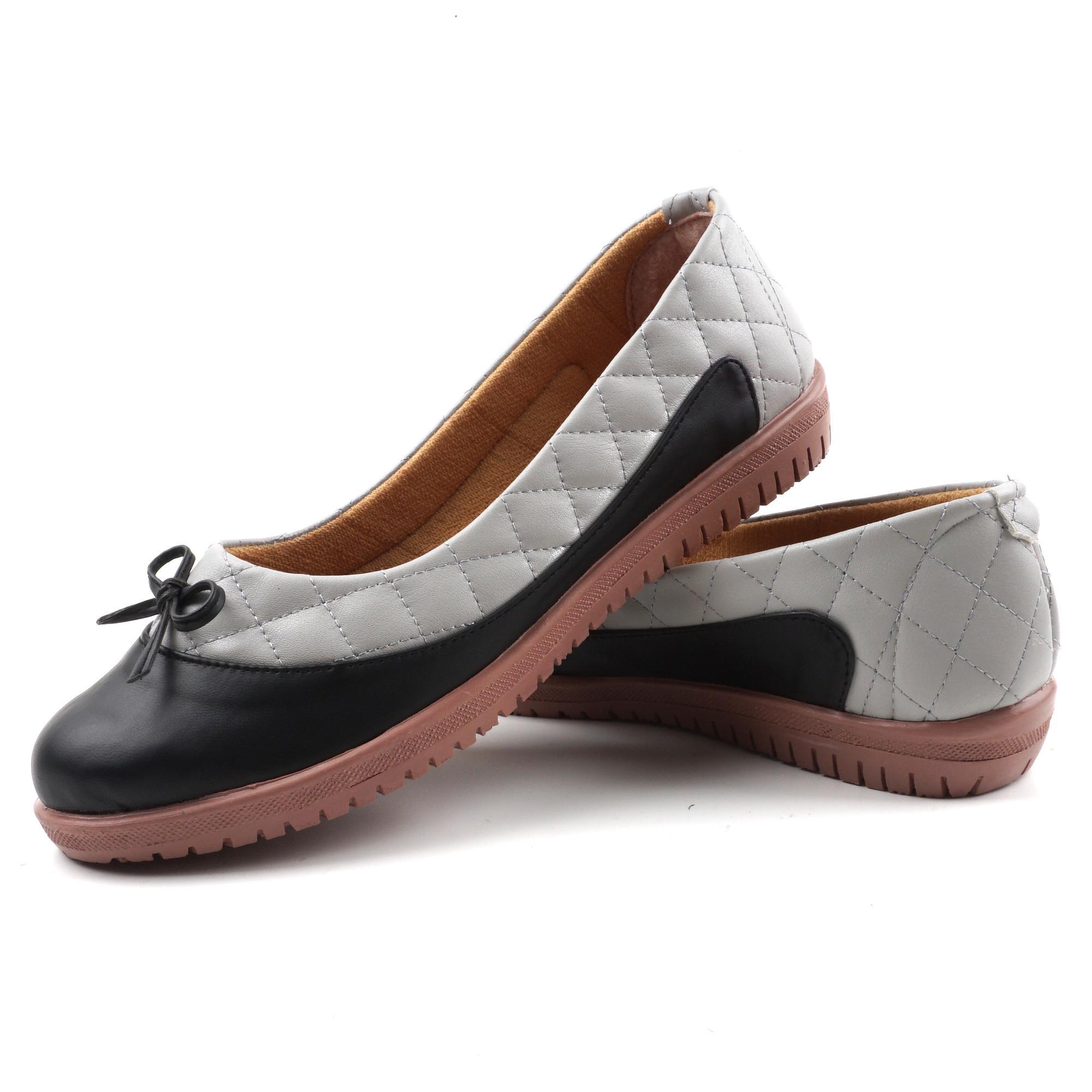 Pluvia - Sepatu Flat Shoes Slip On Wanita Quilted BL08 - Coklat Moka   Hitam efd605885d