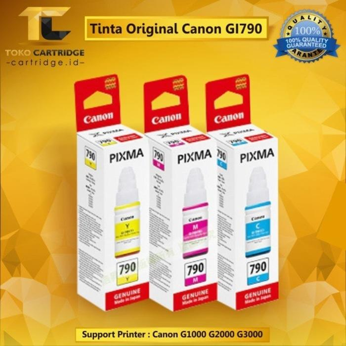 Tinta Canon GI790 GI-790 GI 790 Original Printer G1000 G2000 G3000 Terlaris di Lazada