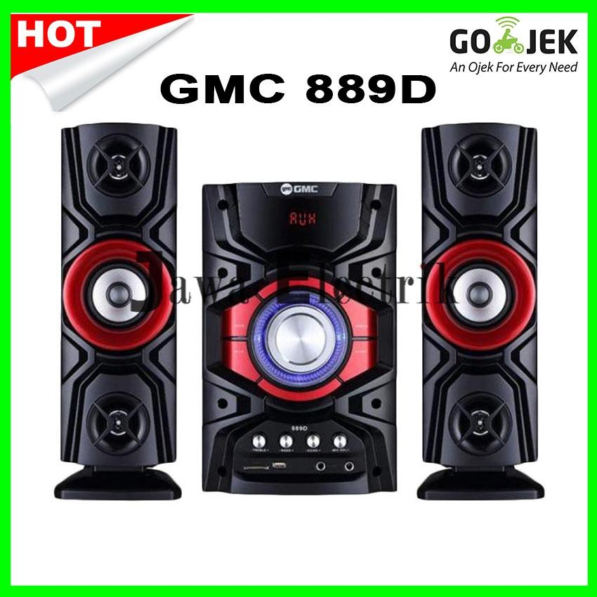 GMC 889D Multimedia Speaker-Merah