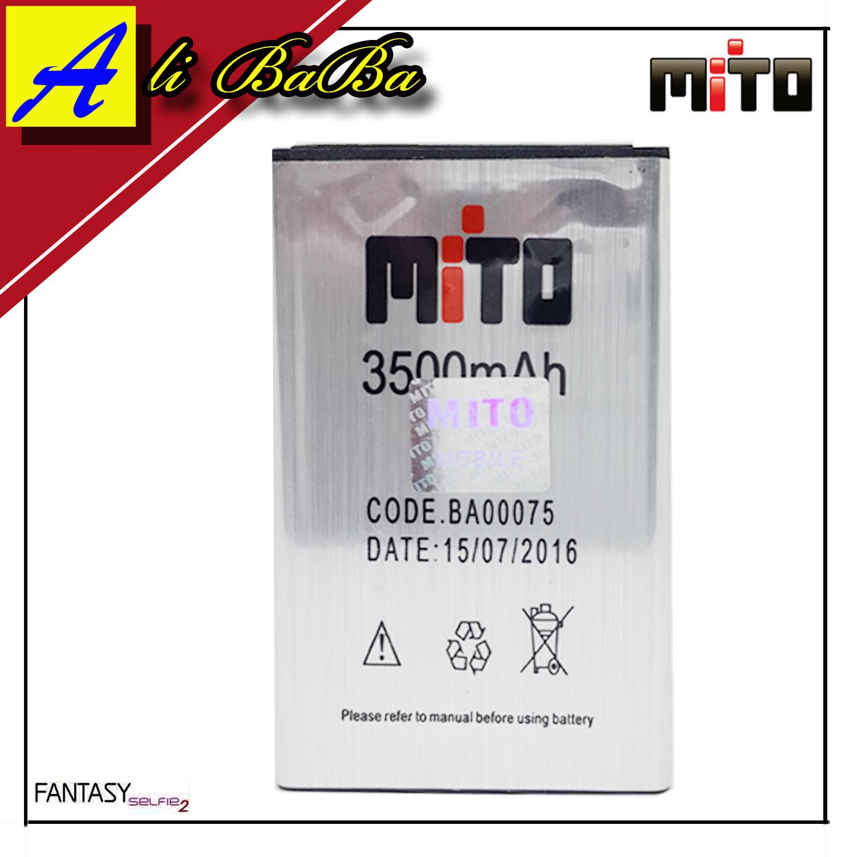 Baterai Handphone Mito A18 Fantasy Selfie 2 BA00075 Double Power Mito Batu HP Mito Fantasy Selfie