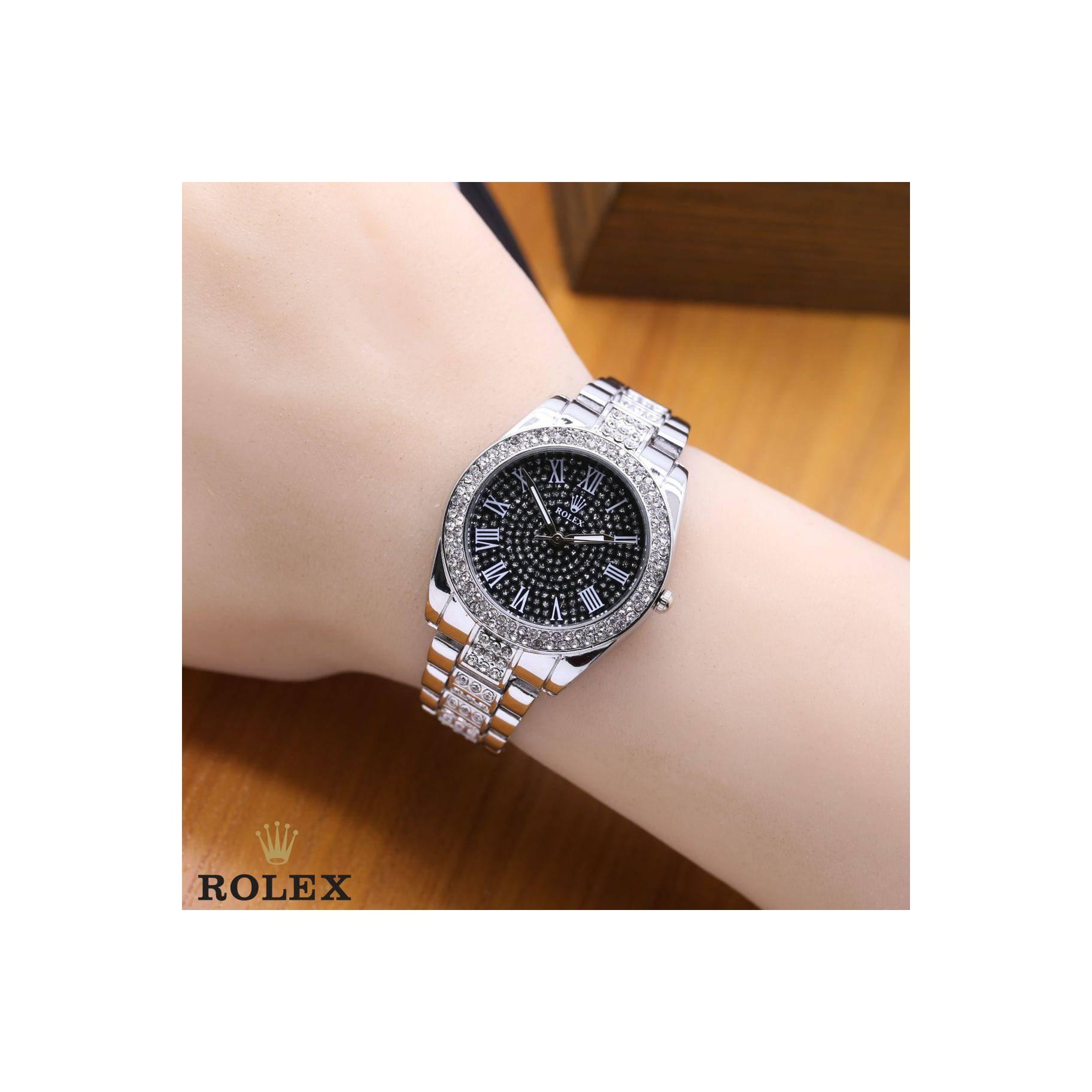 jam tangan ROLEX WANITA ANGKA ROMAWI RANTAI