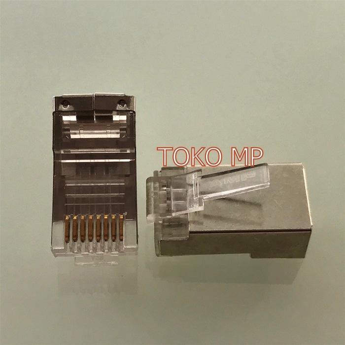 Diskon 10%!! Connector Rj45 Cat6 Plat Besi-Amp Min Order 4 Biji