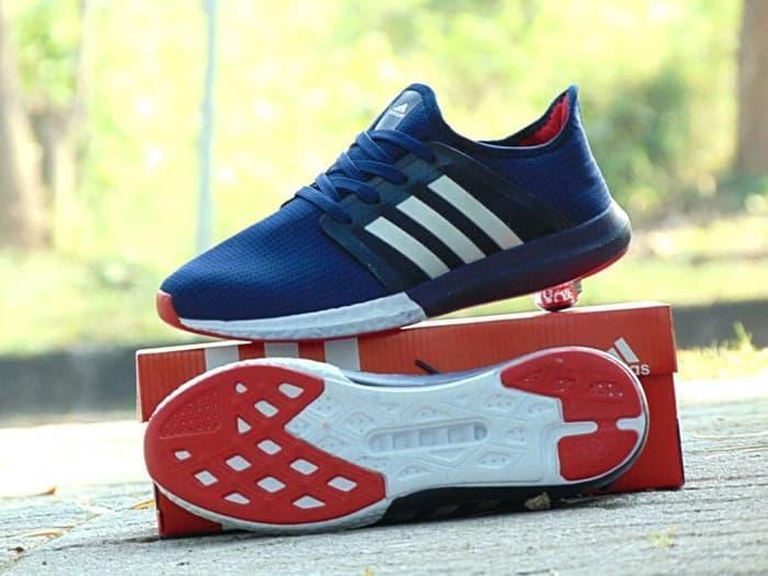 Sepatu Sneakers Sonic Boost Import Premium Biru Kets Santai By Godagoda.