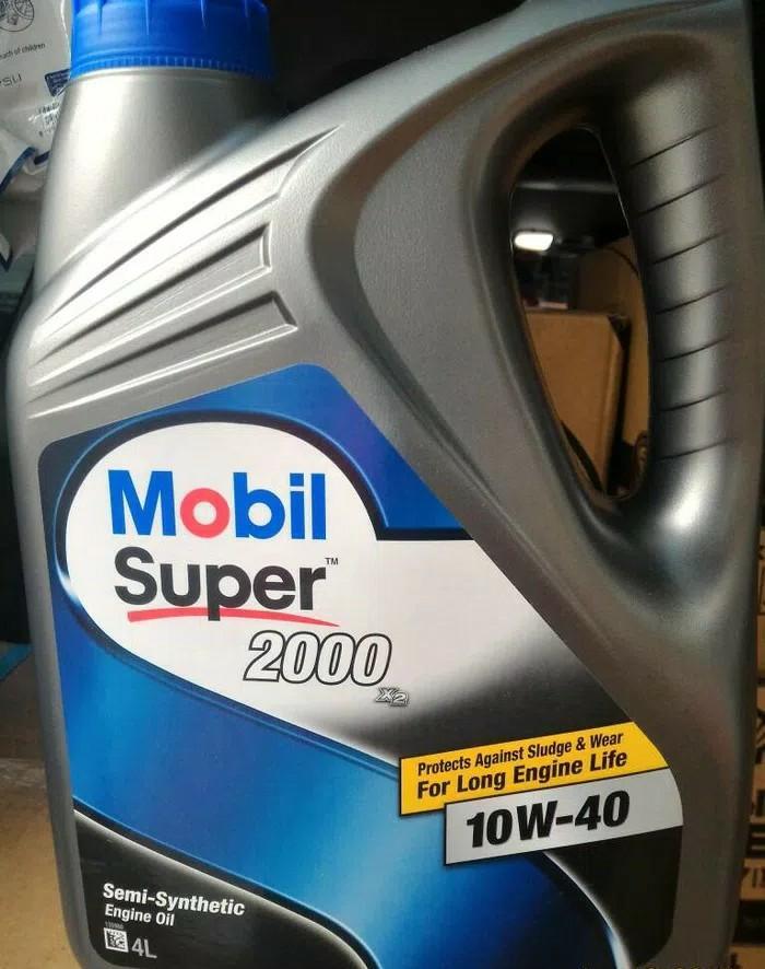 Mobil super 2000 SAE 10w40 Kemasan Galon