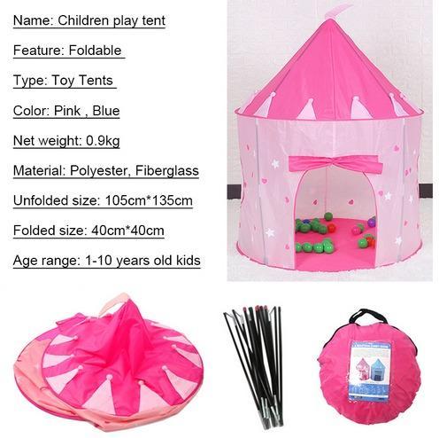 Tenda Istana 135X105X85cm Mainan Mandi Bola