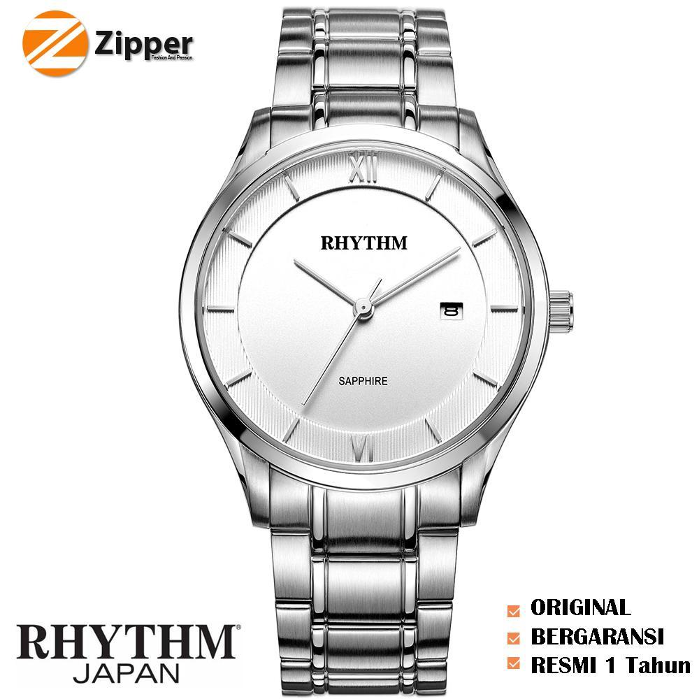 Jam Tangan Pria Rhythm General G1301s 05 Daftar Harga Terbaru P1201s03 Silver Gold Strap Stainless Steel Tali Rantai Logam Quartz Shappire
