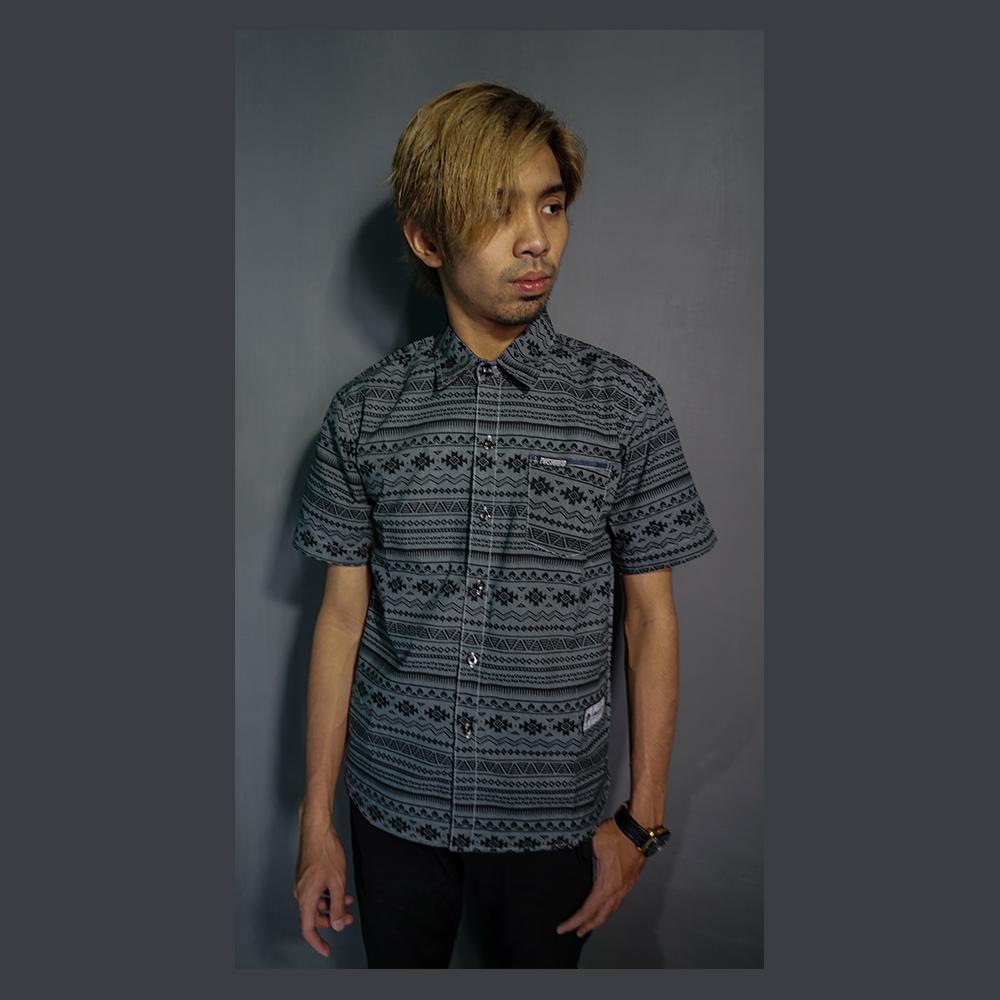 Masahiro Cloth Baju Kemeja Pria Casual Lengan Pendek Short Sleeve Keren Slim Fit Bahan Cotton Motif