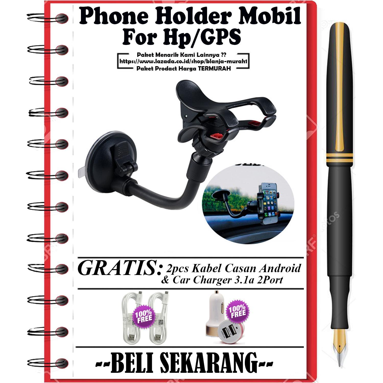 Jual Phone Holder Motor Mobil Perekat Gurita Hp Universal Untuk Gps Kaca Gratis 2pcs Kabel