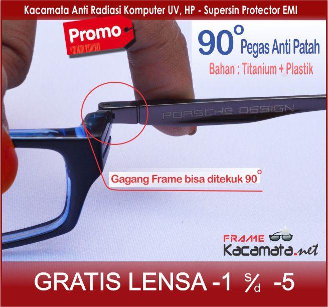 Frame kacamata minus anti radiasi 6001K + lensa minus/plus/silinder kacamata  sport baca