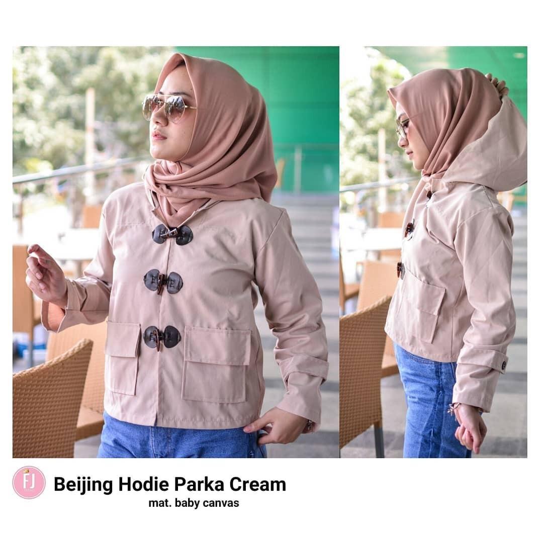 Hijab Bandung Jaket atau Sweater Wanita Beijing Hodie Parka - Multicolor