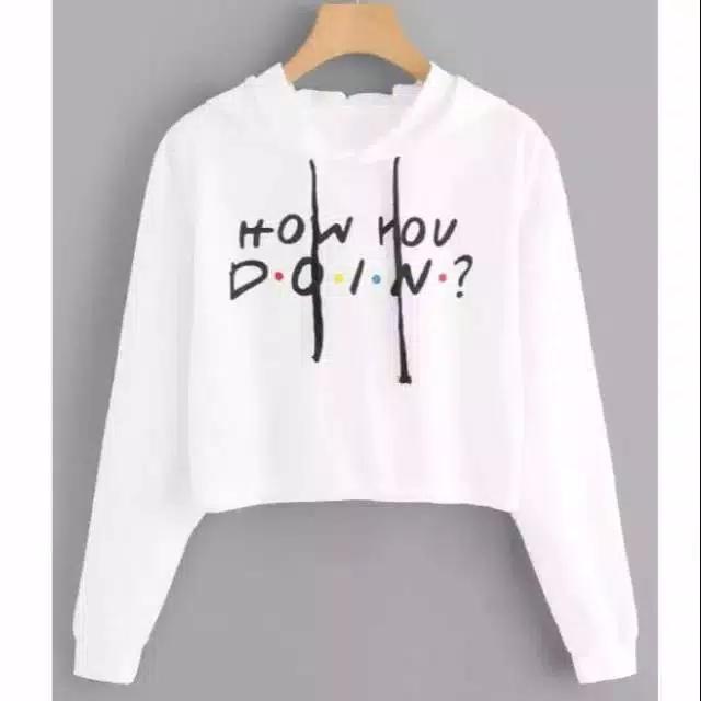 Hazelfashion Sweater hodie crop HOW YOU DOIN uk XL