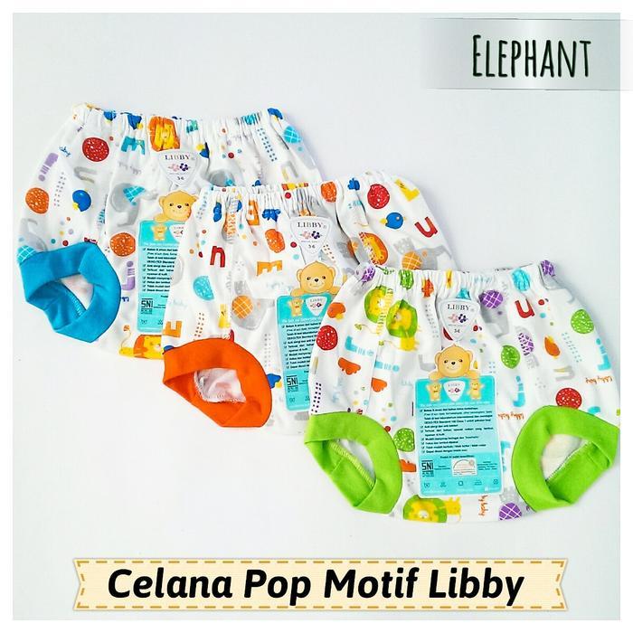 Celana Pop Motif Libby 3-6 bulan 3 pcs   Celana Bayi