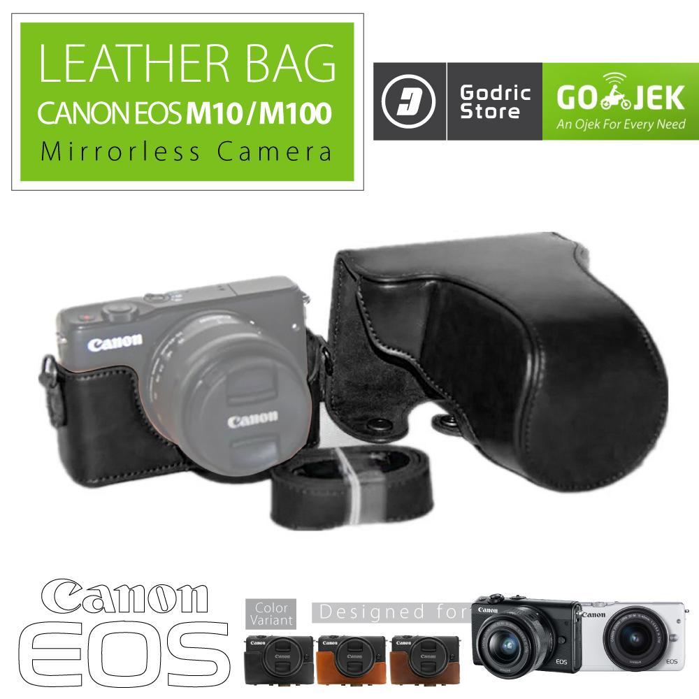 Jual Kamera Canon Terbaik Eos M10 Kit 1 15 45mm F 35 63 Is Stm Garansi Datascrip Hitam M100 Leather Bag Case Tas Kulit Mirrorless