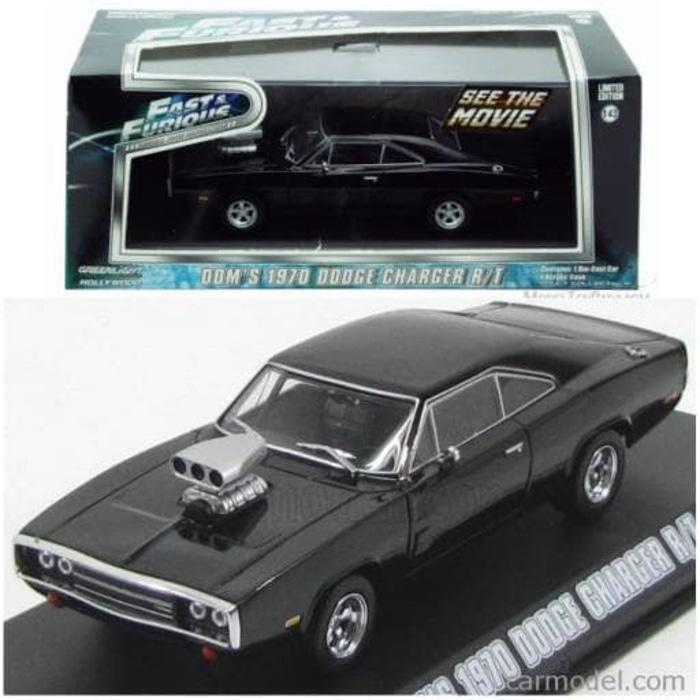 TERLARIS Greenlight 1:43 Dom's 1970 Dodge Charger R/T Fast Furious