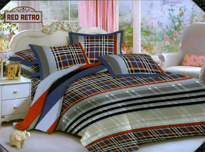 Bedcover Endless Love Ukuran 180x200 - Red Retro By Mapshop.