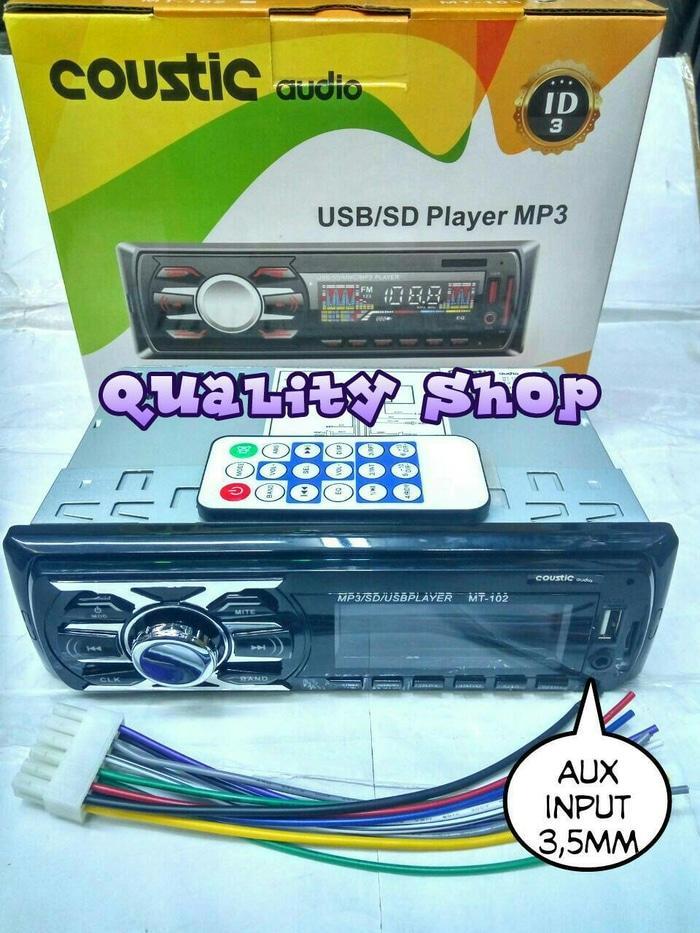 ORIGINALS  tape mobil coustic usb sd radio baru
