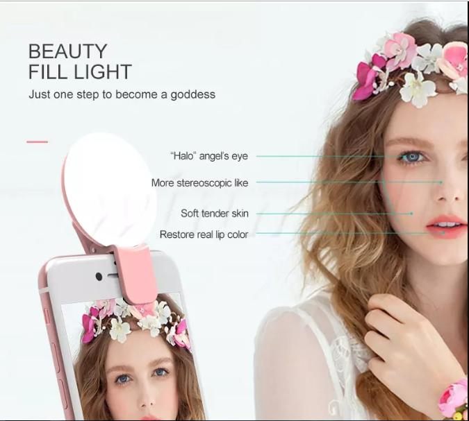 PROMO Lampu Selfie Ring Mewah Eropa Style Limited Edition Import 7STAR - Selfie Light With Charger Portable 1 Pcs