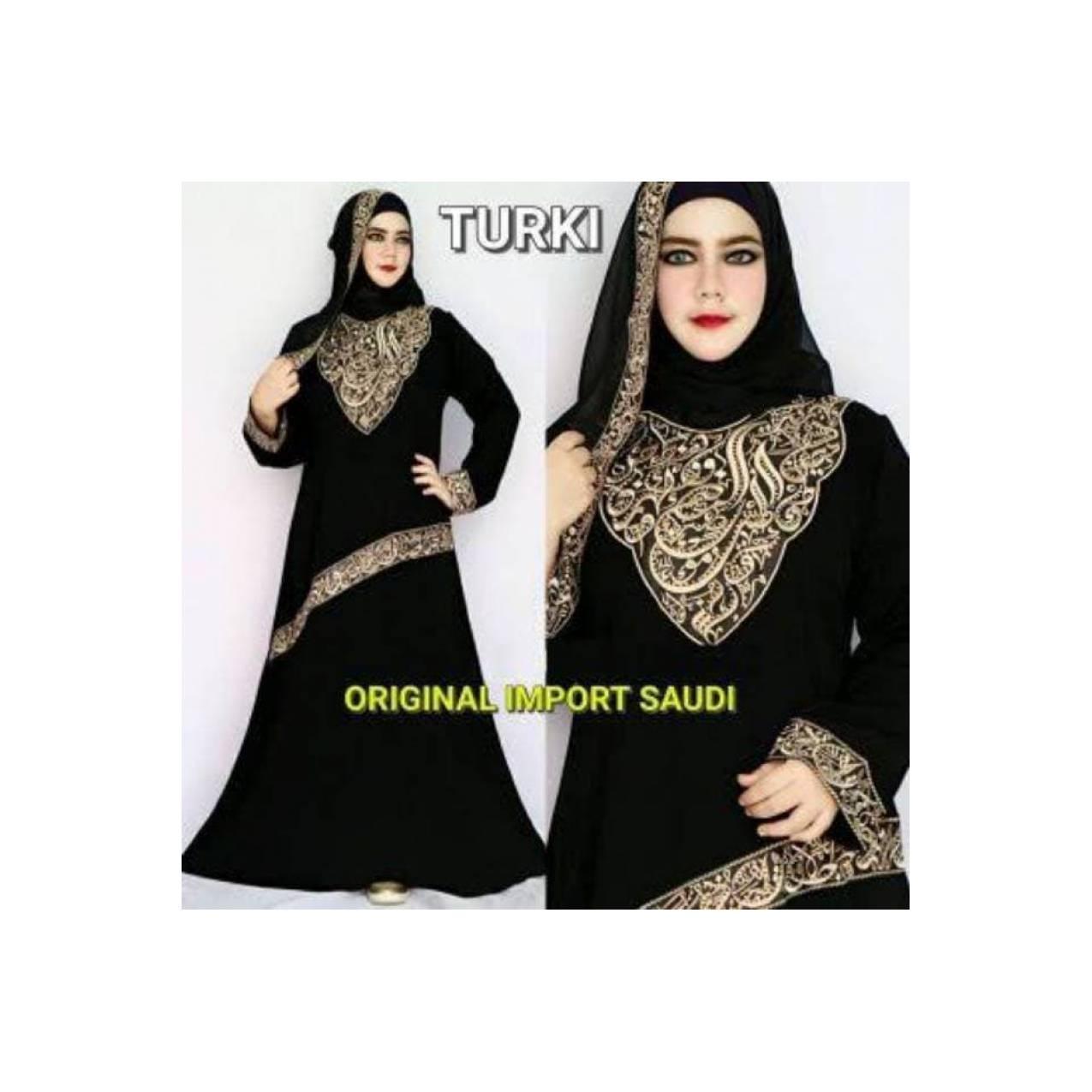 Abaya jubah gamis bordir turki BERKUALITAS