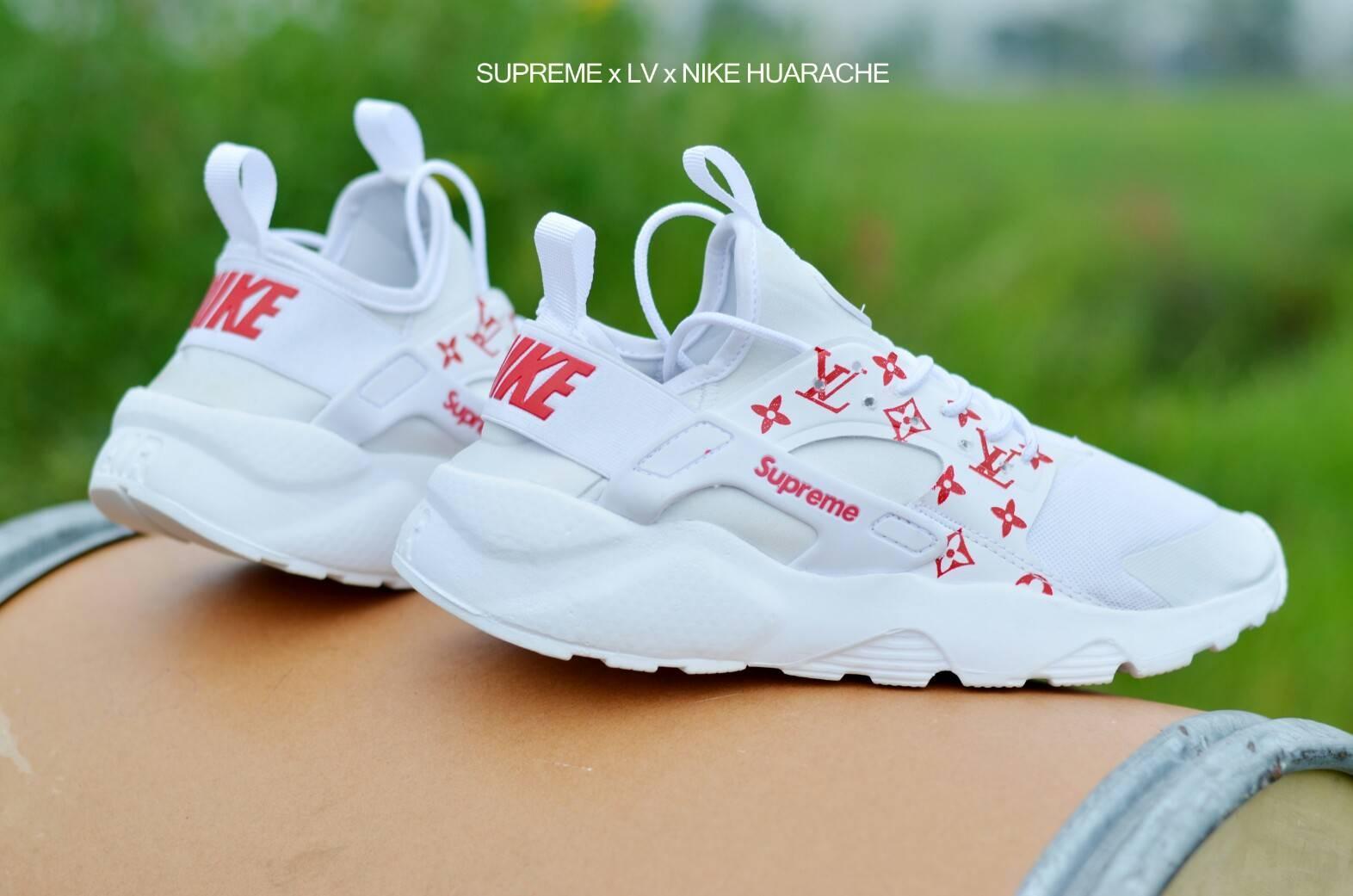 sepatu sneakers Nike Huarache suprame women fashion wanita olahraga sport gym lari joging