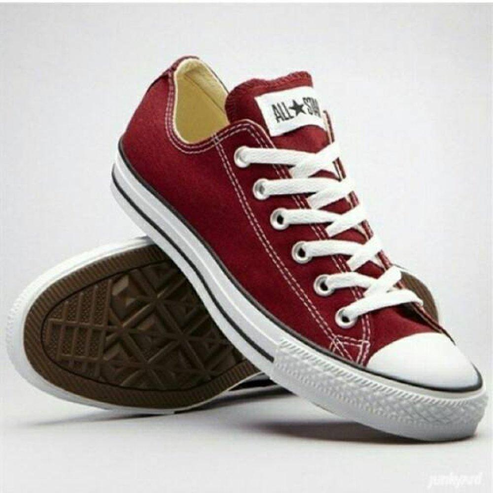 Sepatu KANVAS SNEKER ALL STAR TERBARU MASA KINI  MARUN  PRIA + BOX 5e1b1e27f5