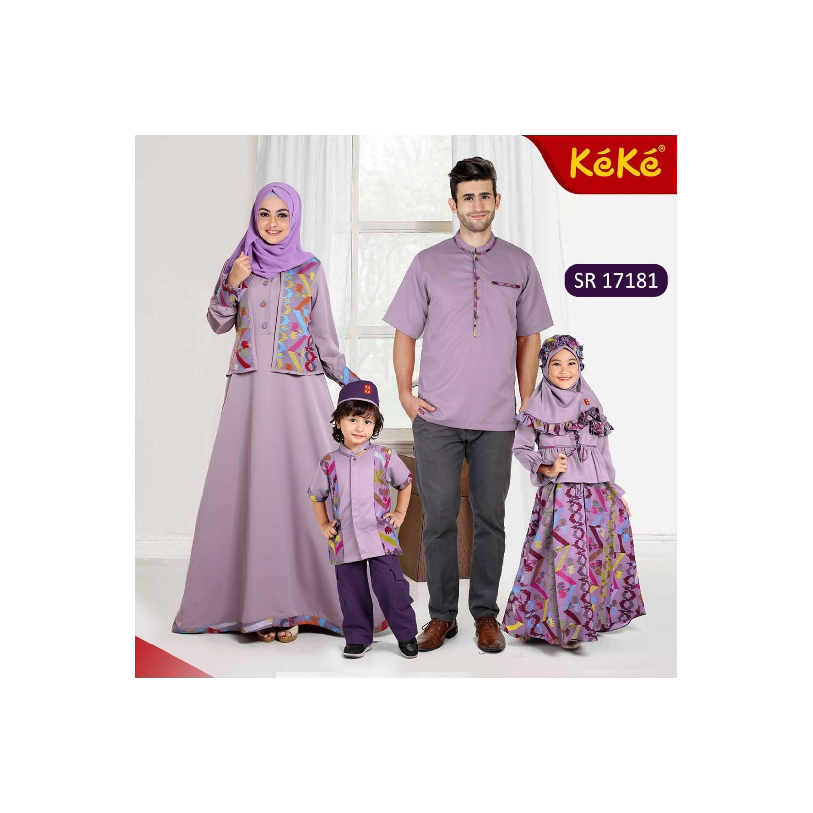 Gamis ibu Sarimbit 01 Keke opsi untuk baju ibu size XS XL