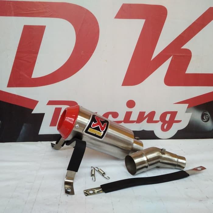 Knalpot Racing Honda Cbr 150 Lokal Slip On Akrapovic Monster Red Series Slip On By Dk Racing Bekasi.