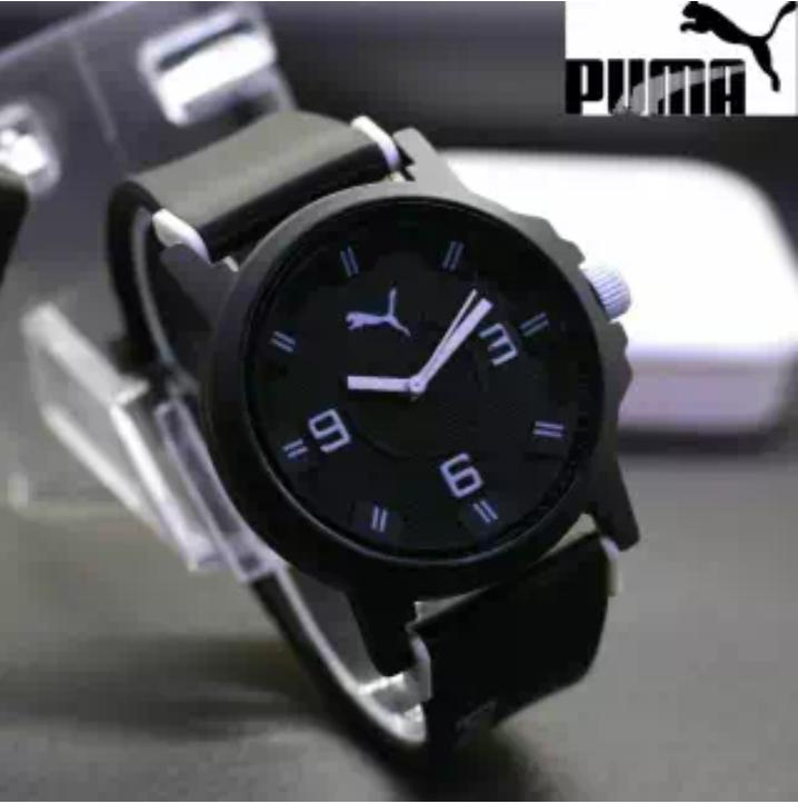 Jam Tangan Fashion Pria Sporty Puma Motif Strip Logos
