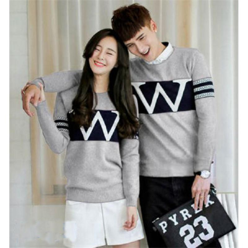 Jakarta Couple - Sweater Couple Wonder / Sweater Couple Wonder Maroon / Sweater Pasangan Murah / Sweater Kapel /Atasan Couple / Baju Kapel