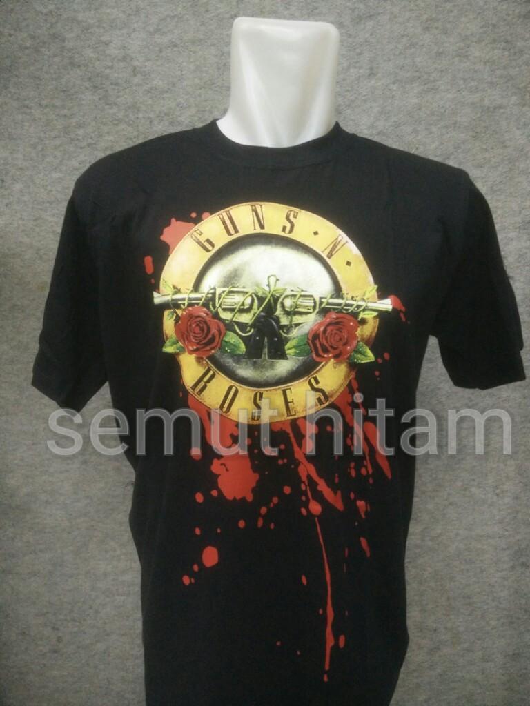 Kaos Band Guns N Roses 1 Gnr Hitam Big Size Xxxl Jumbo Guns And Roses Baju