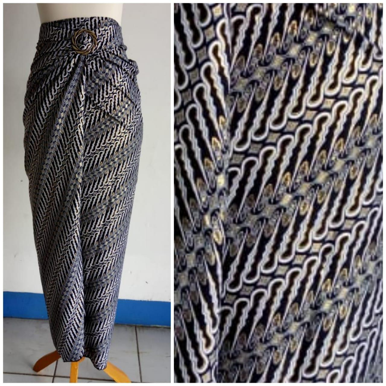 Cj collection Rok lilit batik panjang wanita jumbo long skirt Yuan