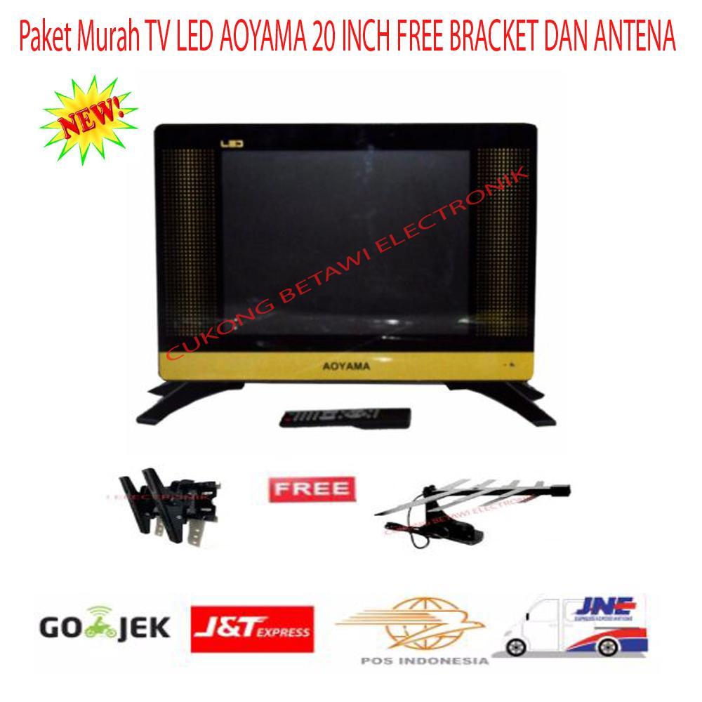 Paket Murah TV LED AOYAMA 20 INCH FREE BRACKET DAN ANTENA