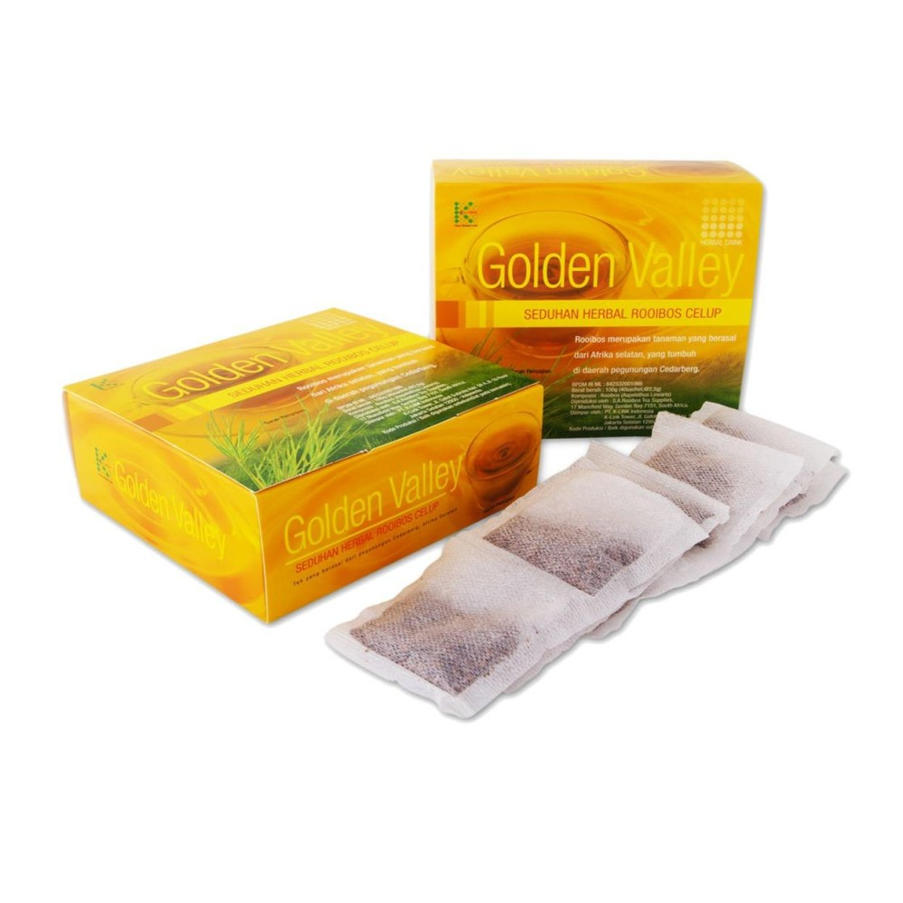 Minuman Teh Herbal Serbuk Rooibos Golden Valley