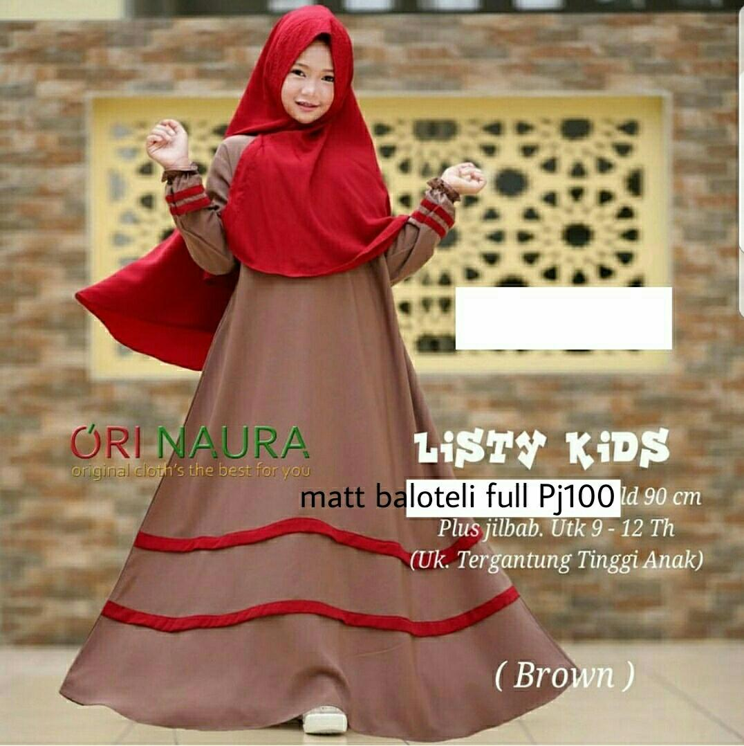 HSNFashion Dress Anak Lostida // Baju Muslim Anak // Gamis Anak // Fashion Anak
