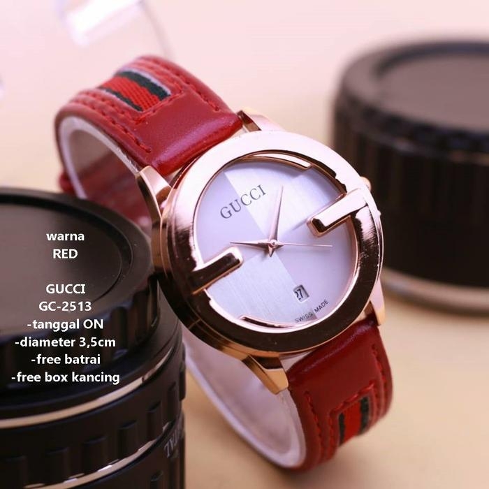 DISKON  SW99 Jam Tangan Wanita Gucci New Model GC2513