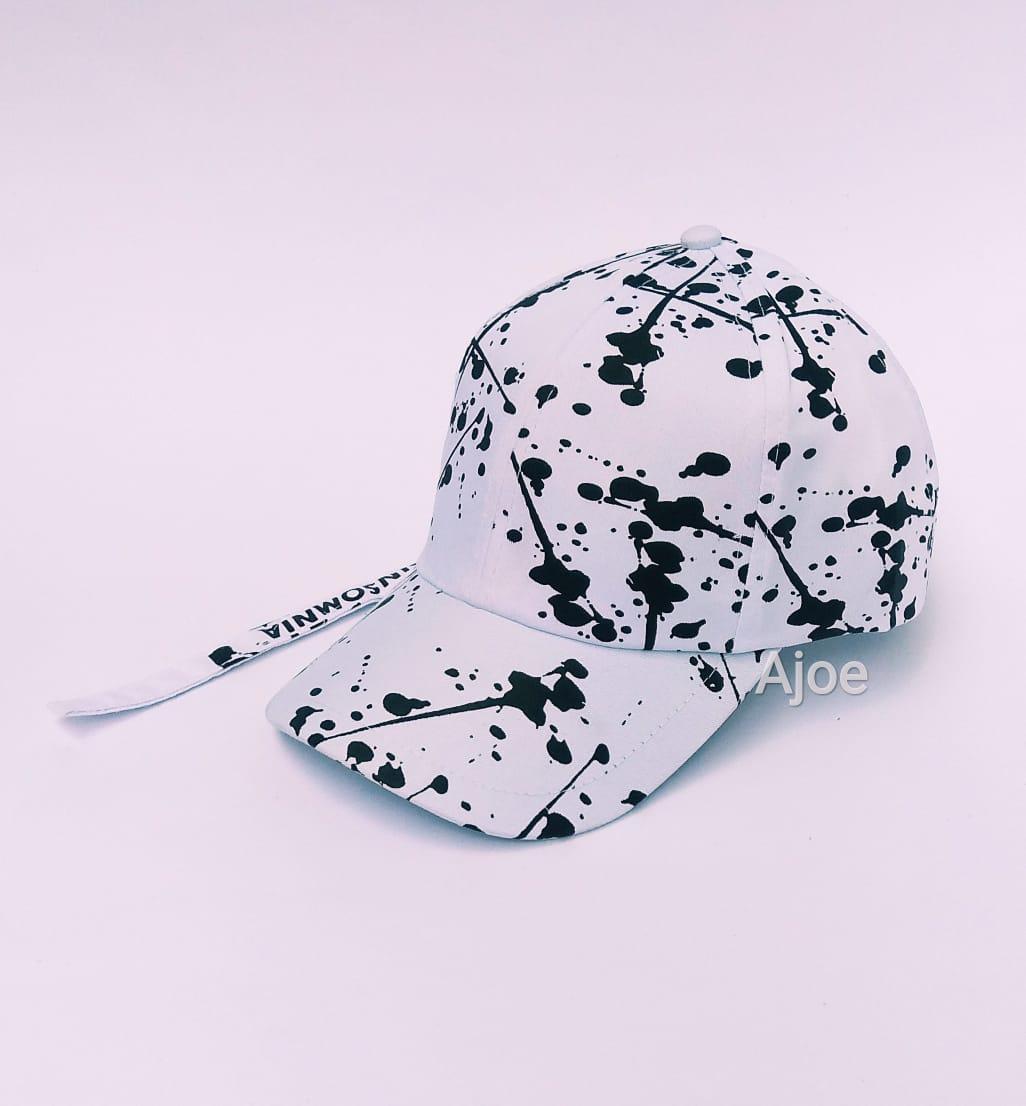 Topi pria distro baseball tali panjang printing   snapback baseball printing 03a361802c