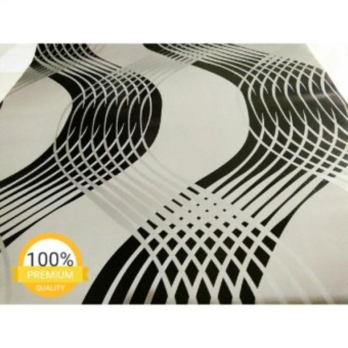 Wallpaper Minimalis abu abu hitam garis silver ABSTRAK 45cmX10m