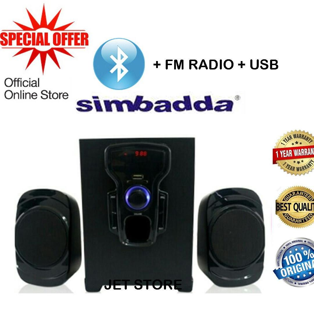Simbadda Speaker 2.1 Music Player CST 2000N+,  Bluetooth, USB, SD Card, Radio FM, Aux 3.5mm - Hitam