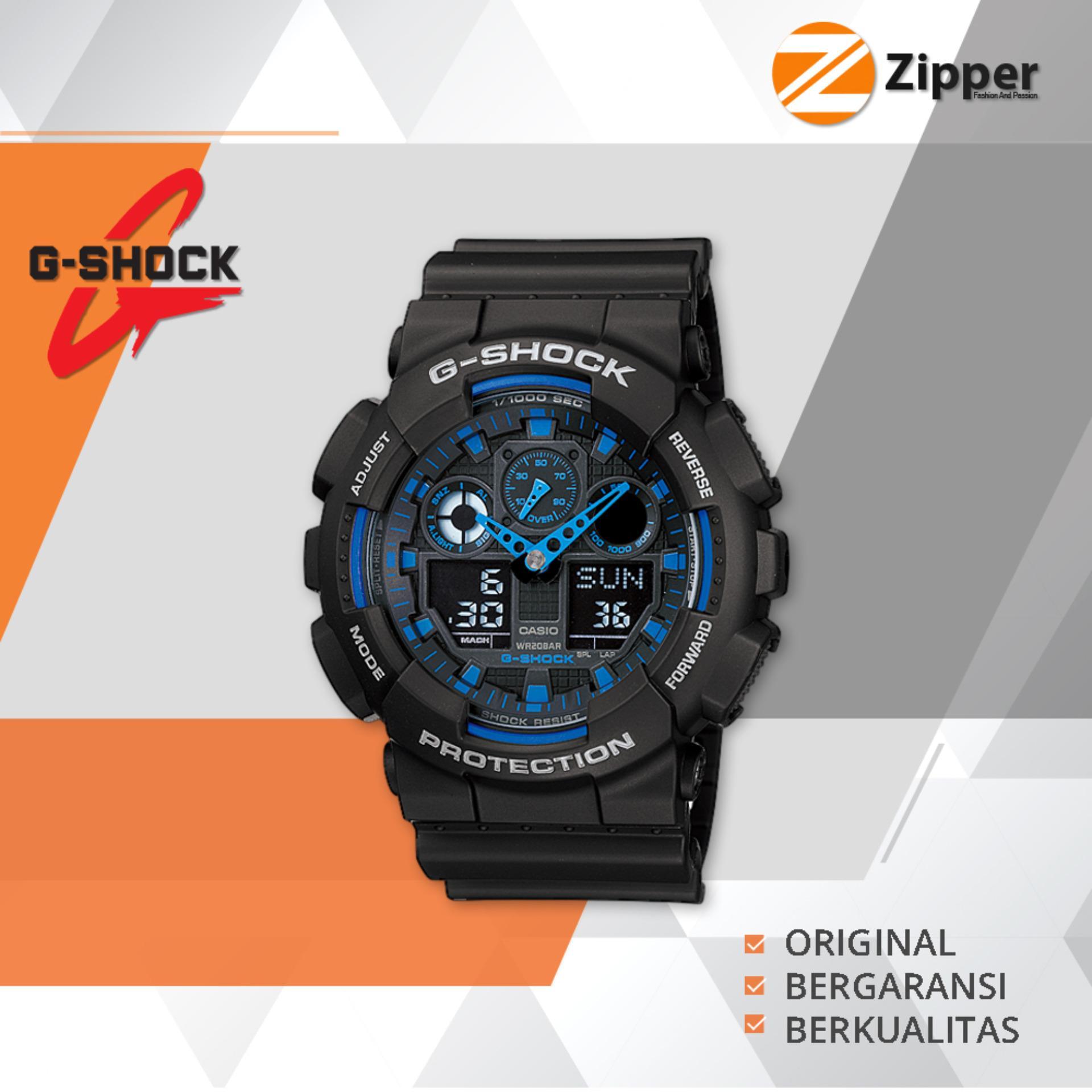 Casio G-Shock Jam Tangan Pria Analog Digital GA-100 Series - Tali Karet PROMO