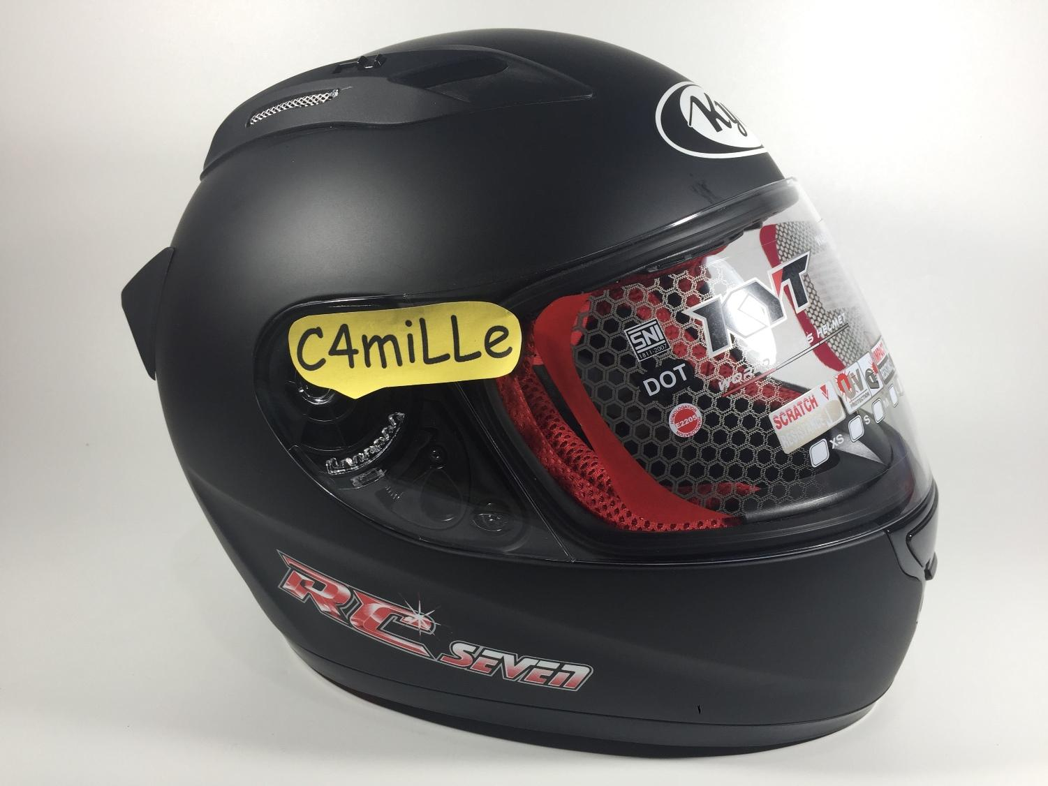 HELM KYT RC 7 BLACK DOP FULL FACE RC7 DOFF SIZE M