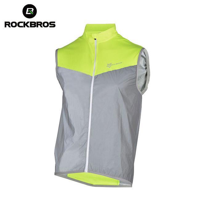 ROCKBROS Bicycle Vest Jersey Jacket Reflective Cycling Sleeveless Men Sportswear Short Jersey Bike Breathable Windproof Vests