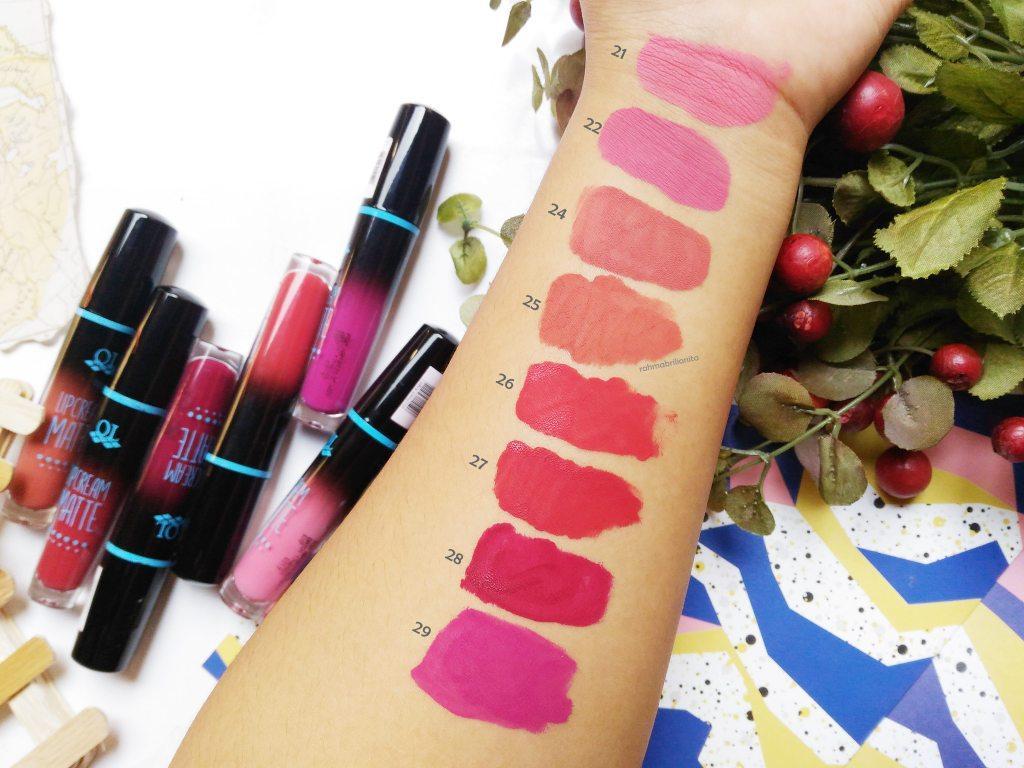 QL Lipcream Matte / Lips Cream Matte Lipstik Cair QL Cosmetics - No 24 Nudy Classic